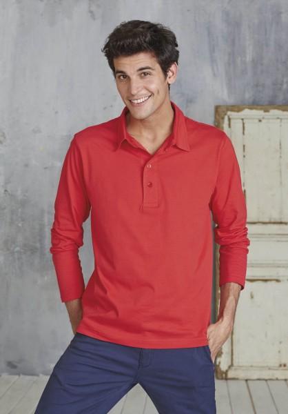 Kariban Herren Langarm Jersey Polo