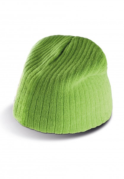 K-UP Rib-Knit Beanie Hat