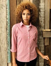 Premier Ladies Microcheck (Gingham) Long Sleeve Shirt
