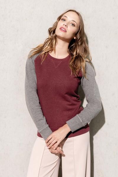 Kariban Zweifarbiges Sweatshirt für Damen