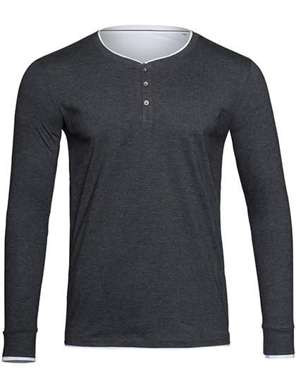 Luke Long Sleeve Henley T-shirt for men