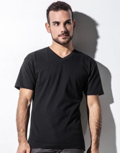 nakedshirt Herren Organic V-Neck T-Shirt