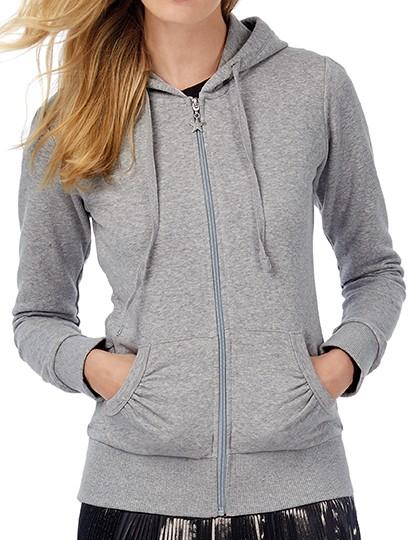 B&C Kapuze-Sweatshirtjacke für Damen