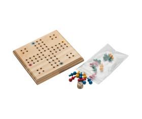 Macma LUDO Spiel aus Holz 12x12x1,1 cm VE 50 Stück
