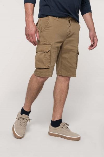 Kariban Bermuda-Shorts für Herren mit mehreren Taschen