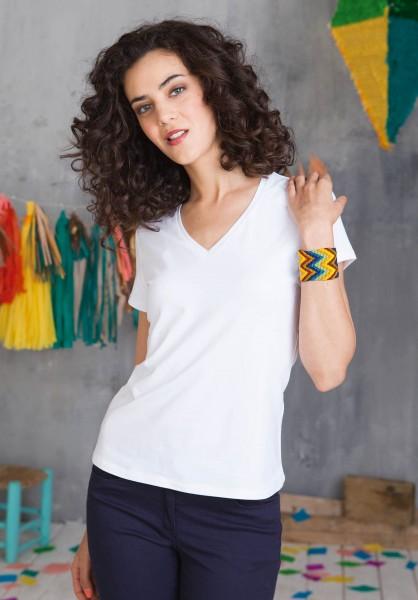 Kariban Electra - Damen T-Shirt mit V-Ausschnitt