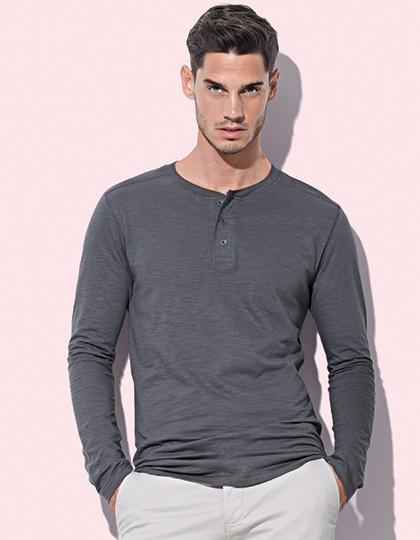 Stedman Shawn Long Sleeve Henley T-shirt for men