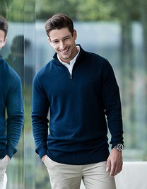 Mens Quarter Zip Jumper