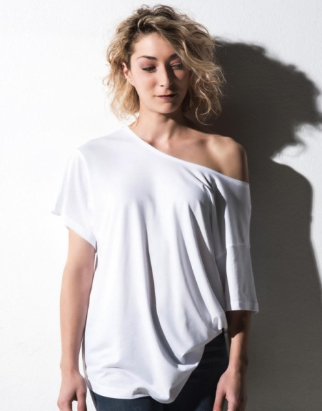 nakedshirt Viscose-Cotton Boxy T-Shirt für Damen