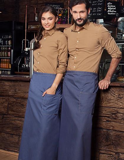 Karlowsky Bistroschürze Jeans 105 x 90 cm