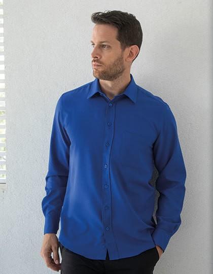 Henbury Herren Langarmhemd