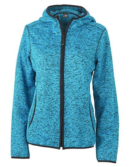 James & Nicholson Ladies Knitted Fleece Hoody