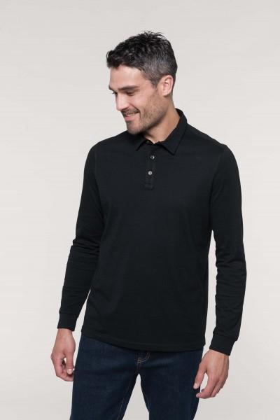 Kariban Langarm-Polohemd für Herren aus Jersey