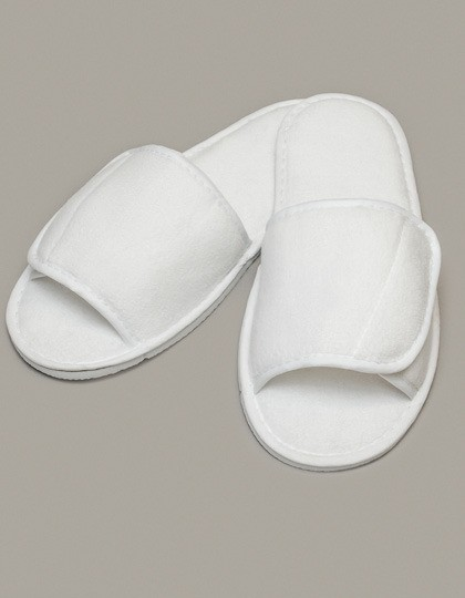 Towel City Open Toe Slipper With Top Fastening
