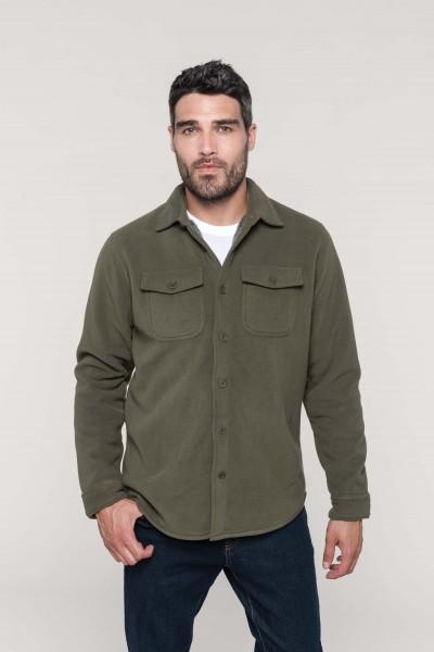 Kariban Fleece-Hemdjacke mit Sherpa-Futter für Herren