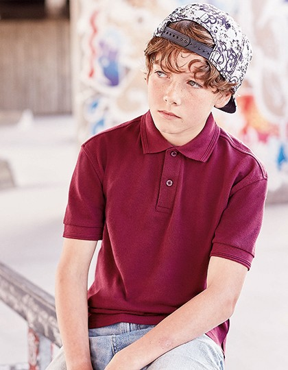 Russell Strapazierfähiges Kinder Polycotton Polo