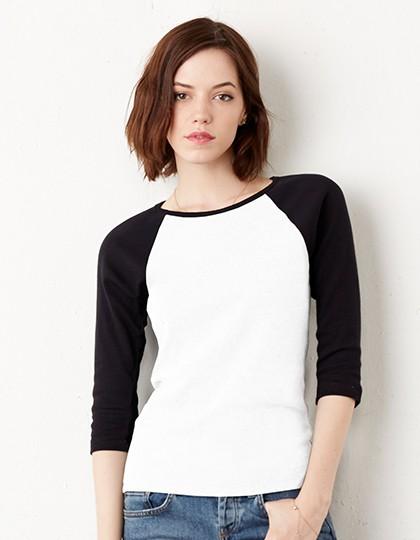Bella + Canvas Shirt mit 3/4 Armen
