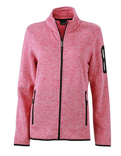 James & Nicholson Ladies Knitted Fleece Jacket
