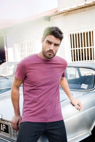 Kariban Vintage Herren Kurzarm-T-Shirt
