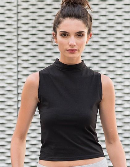 SF Women Shirts mit Schornsteinfegerkragen High Neck Crop Vest