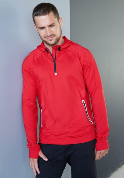 PRO ACT Kapuzen-Sweatshirt 1/4 Sport-Reißverschluss